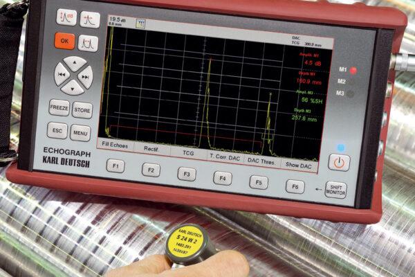 Обслідування ультразвуковим дефектоскопом ECHOGRAPH 1095