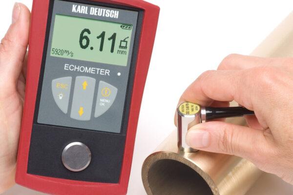 Вимір товщини стінки ультразвуковим товщиноміром ECHOMETER 1076 DATA