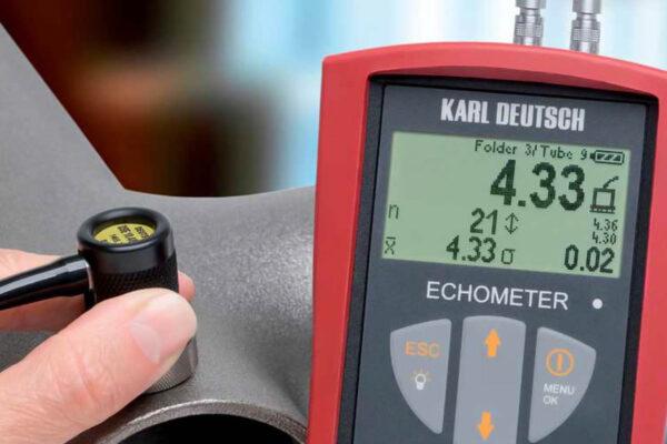 Вимір ультразвуковим товщиноміром ECHOMETER 1076 DATA