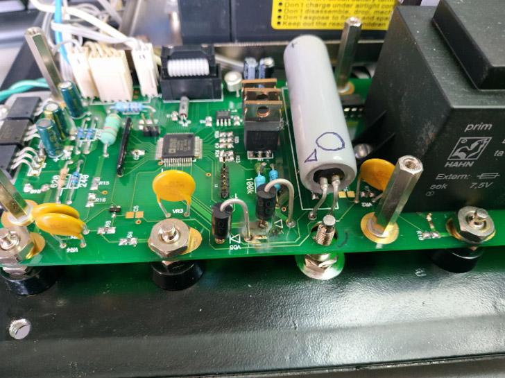 Омметр Віток. Вигорання резистора R9 і діода VD5